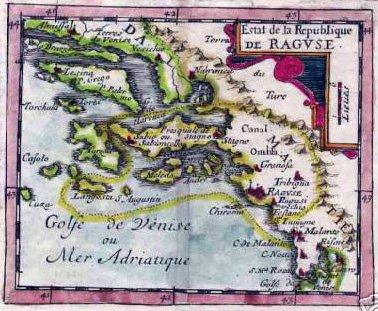 map of medieval Dubrovnik